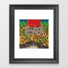 Super Twin Peaks Framed Art Print