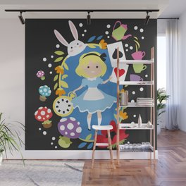 Alice in Wonderland Wall Mural