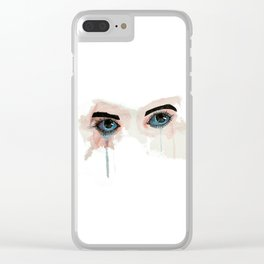 Painted eyes Clear iPhone Case