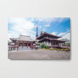 Zojoji Temple Daiden & Koshoden - Tokyo, Japan Metal Print