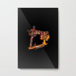 Templar Sword Metal Print