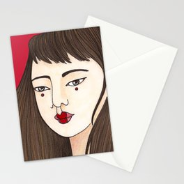 Eun-Mi / Red Stationery Cards