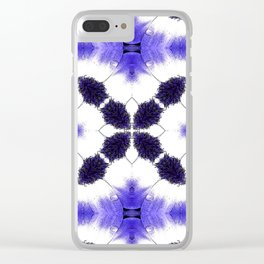 Purple Passion Pattern 3 Clear iPhone Case
