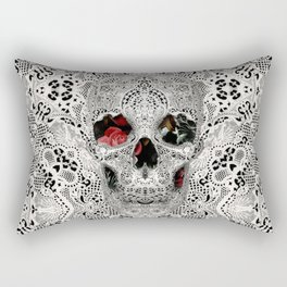 Lace Skull Light Rectangular Pillow