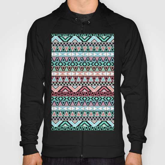 Pastel me | Andes Teal Pink Cute  Abstract Aztec Pattern Hoody