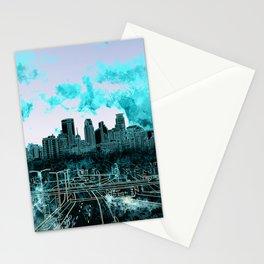 minneapolis city skyline Stationery Cards