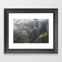 Mountain on the Green - Kauai, Hawaii Framed Art Print