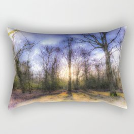 The Early Morning Pastel Forest Rectangular Pillow