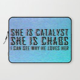 ILLUMINAE   She is Chaos Laptop Sleeve