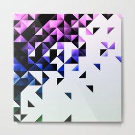 Purple Trangle Fade Metal Print