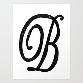 Monogrammed Letter B Art Print
