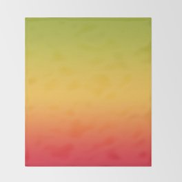Tropical Colorful Gradient Pattern Throw Blanket