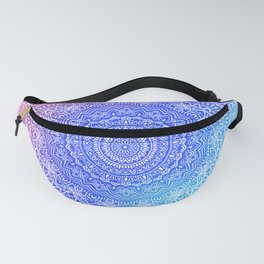 Beautiful colorful rainbow mandala Sophisticated ornament pink and violet cyan Fanny Pack