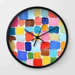 Mod Polka Daubs Wall Clock
