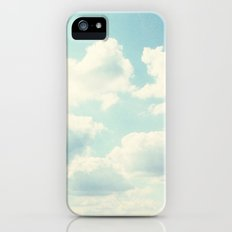 White Fluffy Clouds Slim Case iPhone (5, 5s)