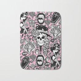 Pink Halloween Bath Mat