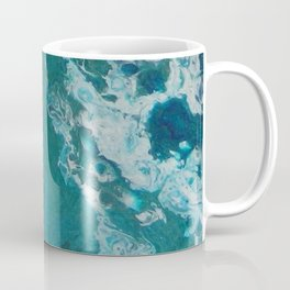 A View From Space, abstract acrylic fluid painting Coffee Mug