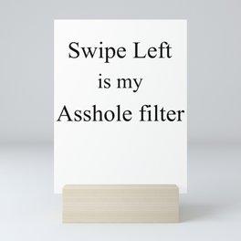 Dating App Design, Swipe left Mini Art Print
