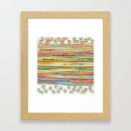 stripes & striped Framed Art Print