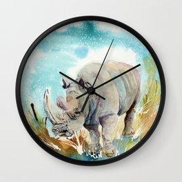 rhino lines Wall Clock