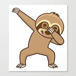 Sloth dab Canvas Print
