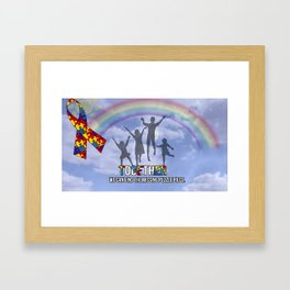 Autism,Together we can find the missing puzzle piece, Framed Art Print