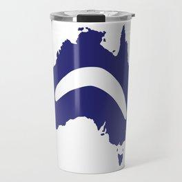 Australia Silhouette With Boomerang Travel Mug
