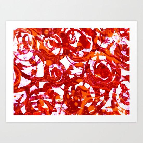 orange fusion Art Print