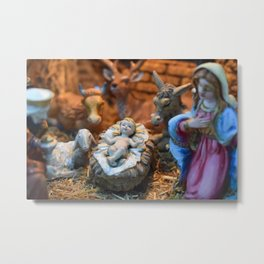 Nativity scene up close Metal Print