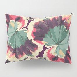Colorful Geranium Illustrated Print Pillow Sham