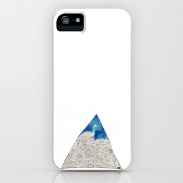 Basquiat Triangle iPhone Case