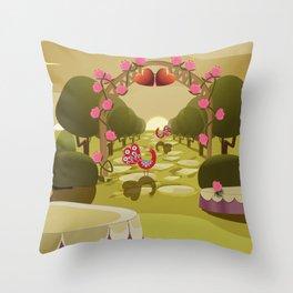 Garden of Eden - Love Throw Pillow