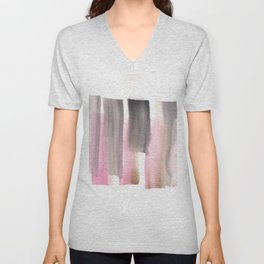 [161228] 28. Abstract Watercolour Color Study|Watercolor Brush Stroke Unisex V-Neck