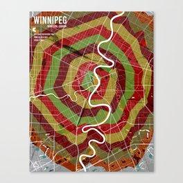 Winnipeg isochrone map Canvas Print