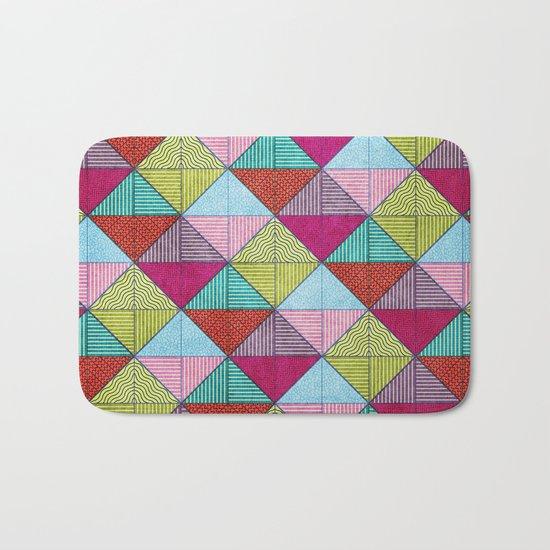 Colorful Seamless Rectangular Geometric Pattern V Bath Mat