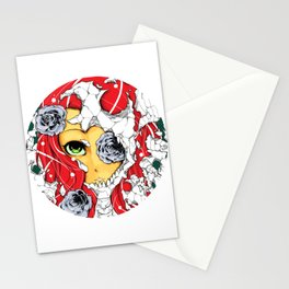The deadly beauty of roses  Stationery Cards