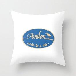 Avalon - New Jersey. Throw Pillow