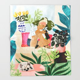 Miss Blogger Throw Blanket