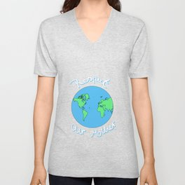 Earth Mother Planet Earth Day Gaia Gift Unisex V-Neck