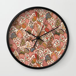 Oberkampf & Cie. Block Printed Textile Pattern, 1792 Wall Clock