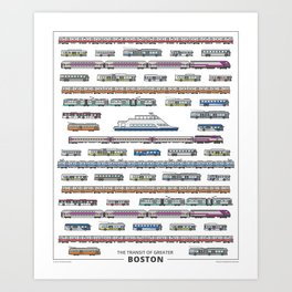The Transit of Greater Boston Art Print