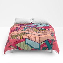 Wolf Samurai Comforters