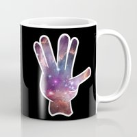 nebula Mugs featuring Nebula by mailboxdisco