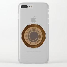 Chocolate Box Swirl Clear iPhone Case