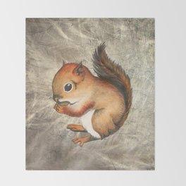 Sciurus (Baby Squirrel) Throw Blanket
