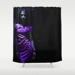 Girl in Purple Shower Curtain