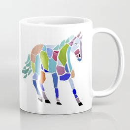 Colorful Mosaic Horse Coffee Mug