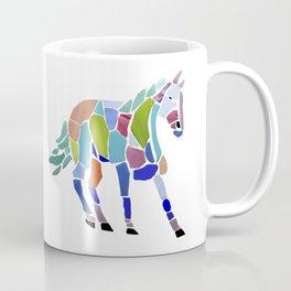 Colorful Mosaic Horse Coffee Mug