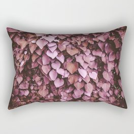 Heart-shaped Leaf Wall Valentine's Day Tropical Spring Blush Pink Pattern Rectangular Pillow