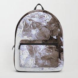 Smoky Quartz Crystal Abstract Backpack